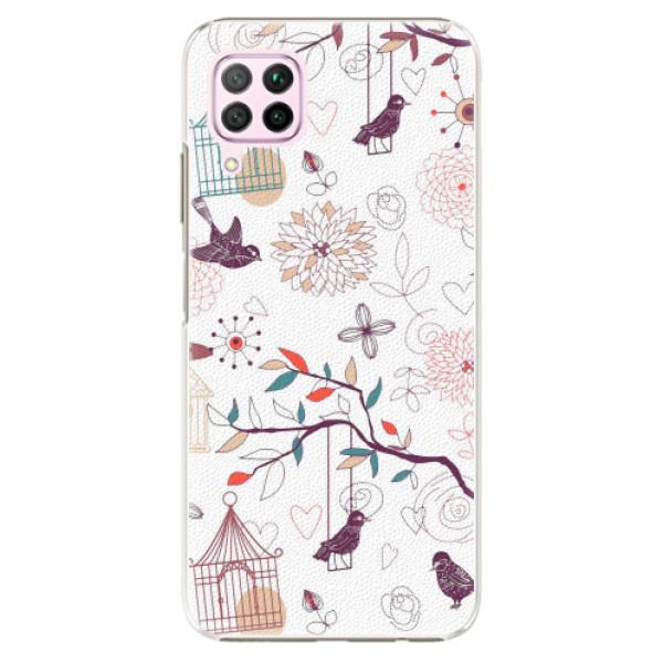 Plastové pouzdro iSaprio - Birds - Huawei P40 Lite