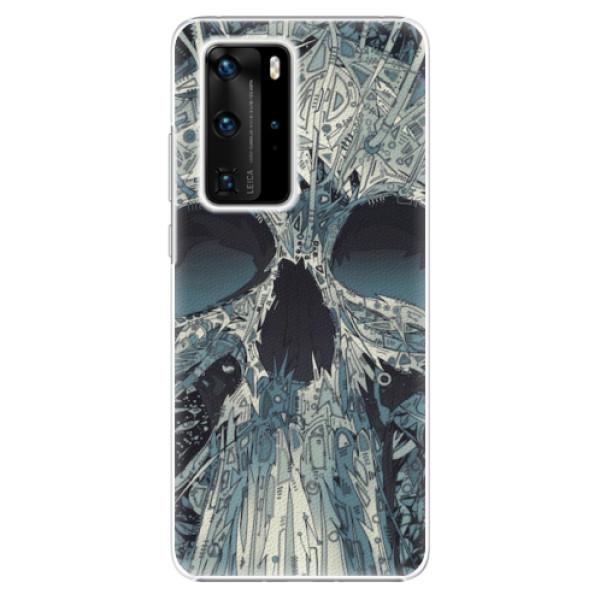 Plastové pouzdro iSaprio - Abstract Skull - Huawei P40 Pro