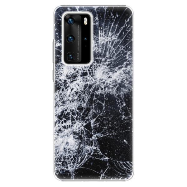 Plastové pouzdro iSaprio - Cracked - Huawei P40 Pro