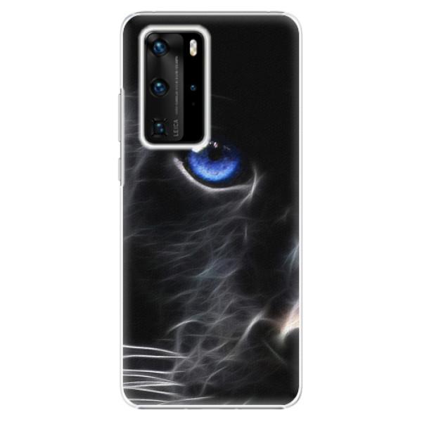 Plastové pouzdro iSaprio - Black Puma - Huawei P40 Pro