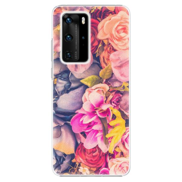 Plastové pouzdro iSaprio - Beauty Flowers - Huawei P40 Pro