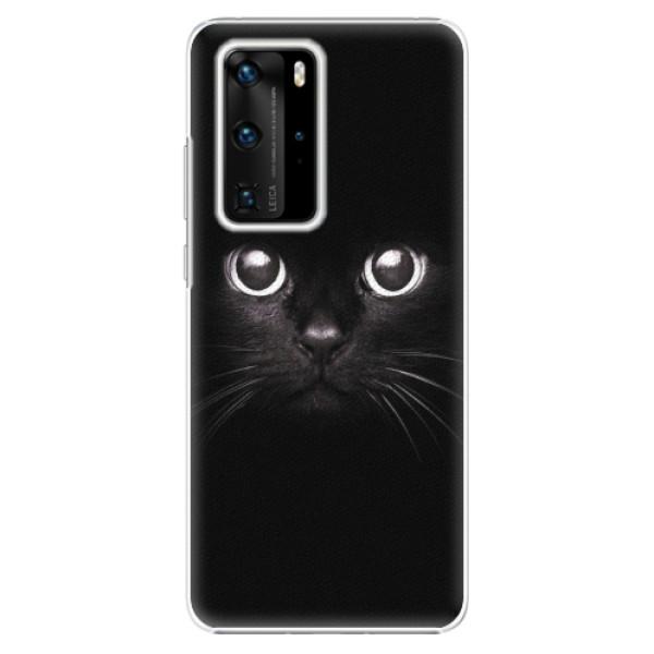 Plastové pouzdro iSaprio - Black Cat - Huawei P40 Pro