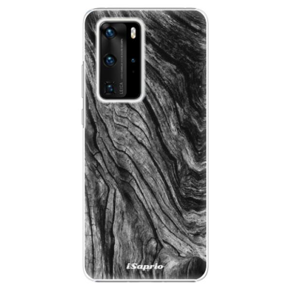 Plastové pouzdro iSaprio - Burned Wood - Huawei P40 Pro