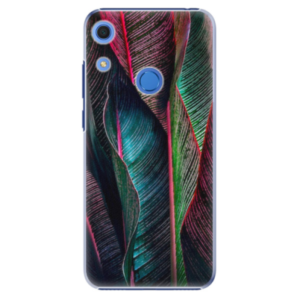 Plastové pouzdro iSaprio - Black Leaves - Huawei Y6s