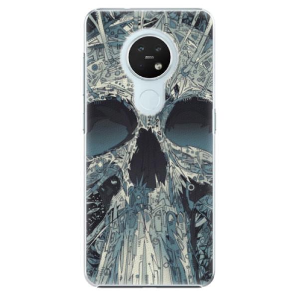 Plastové pouzdro iSaprio - Abstract Skull - Nokia 7.2