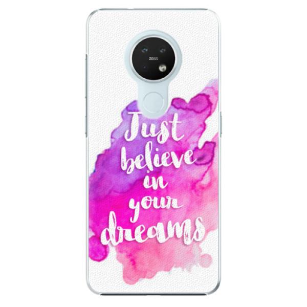 Plastové pouzdro iSaprio - Believe - Nokia 7.2