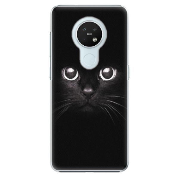 Plastové pouzdro iSaprio - Black Cat - Nokia 7.2