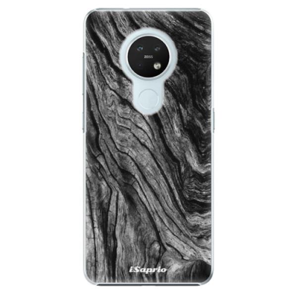 Plastové pouzdro iSaprio - Burned Wood - Nokia 7.2