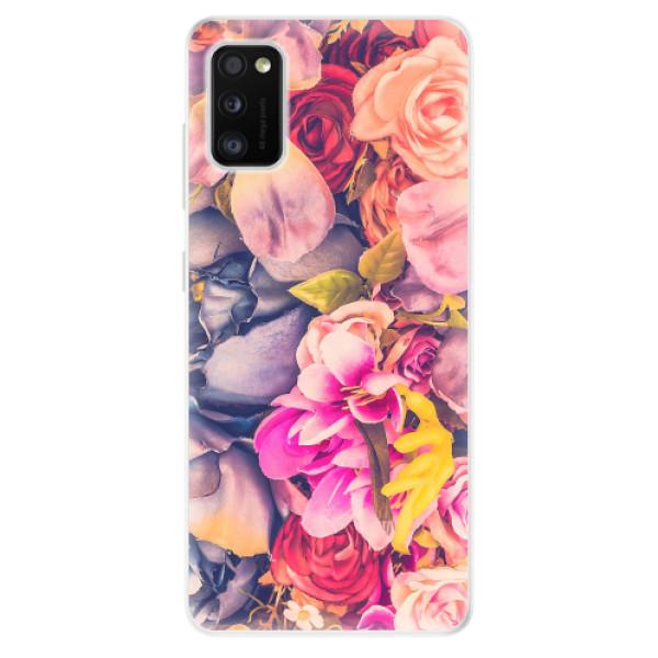 Odolné silikonové pouzdro iSaprio - Beauty Flowers - Samsung Galaxy A41