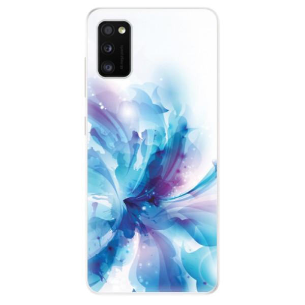 Odolné silikonové pouzdro iSaprio - Abstract Flower - Samsung Galaxy A41