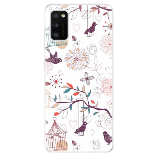 Odolné silikonové pouzdro iSaprio - Birds - Samsung Galaxy A41