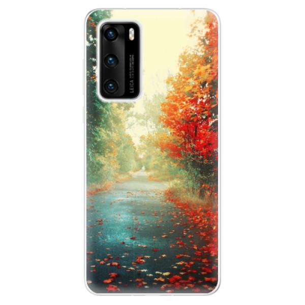Odolné silikonové pouzdro iSaprio - Autumn 03 - Huawei P40