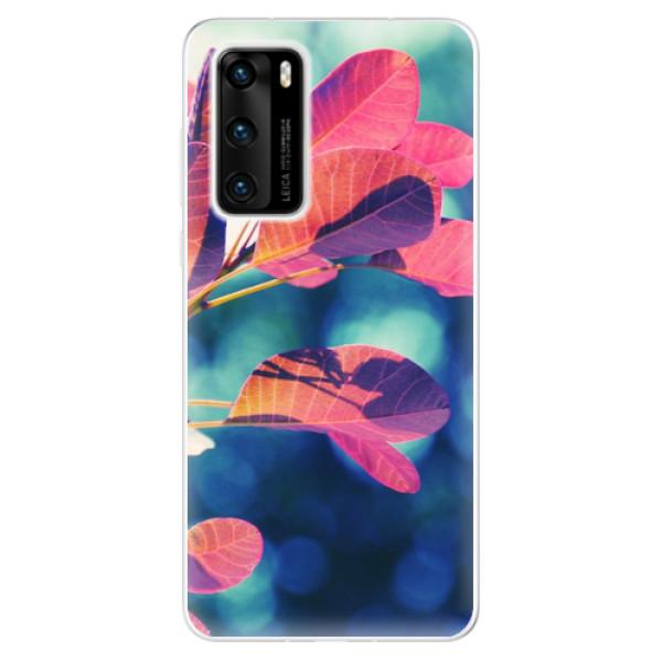 Odolné silikonové pouzdro iSaprio - Autumn 01 - Huawei P40