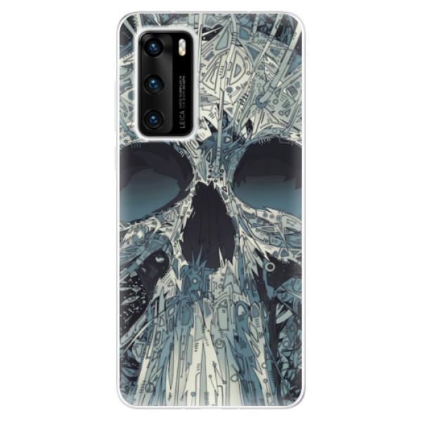 Odolné silikonové pouzdro iSaprio - Abstract Skull - Huawei P40