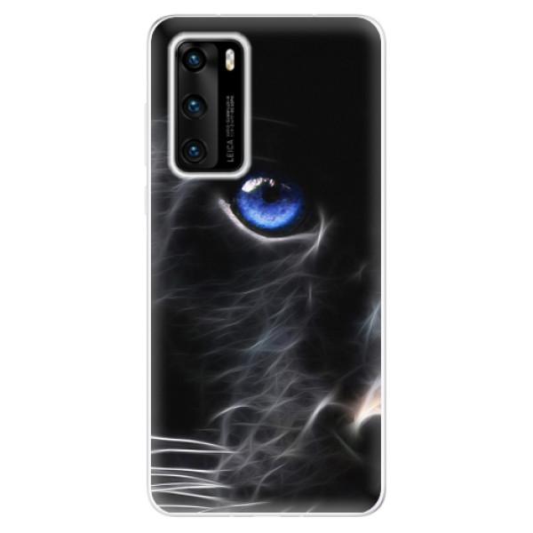 Odolné silikonové pouzdro iSaprio - Black Puma - Huawei P40