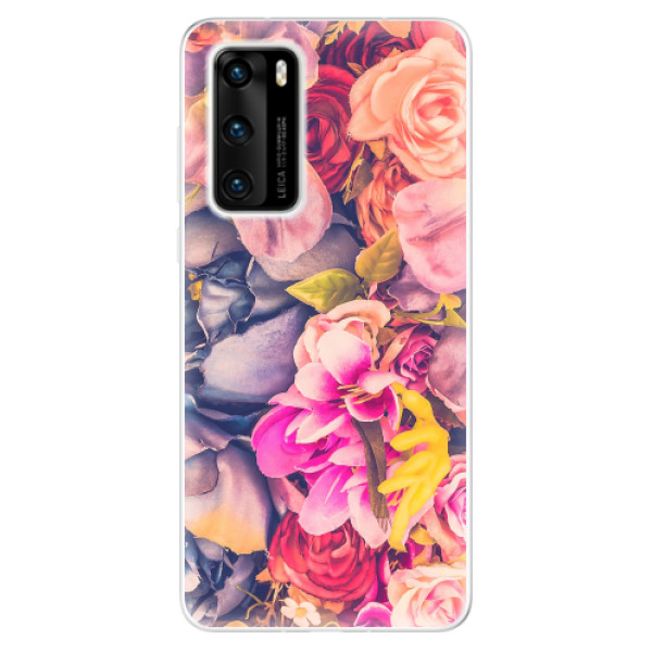 Odolné silikonové pouzdro iSaprio - Beauty Flowers - Huawei P40