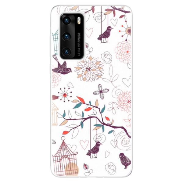 Odolné silikonové pouzdro iSaprio - Birds - Huawei P40