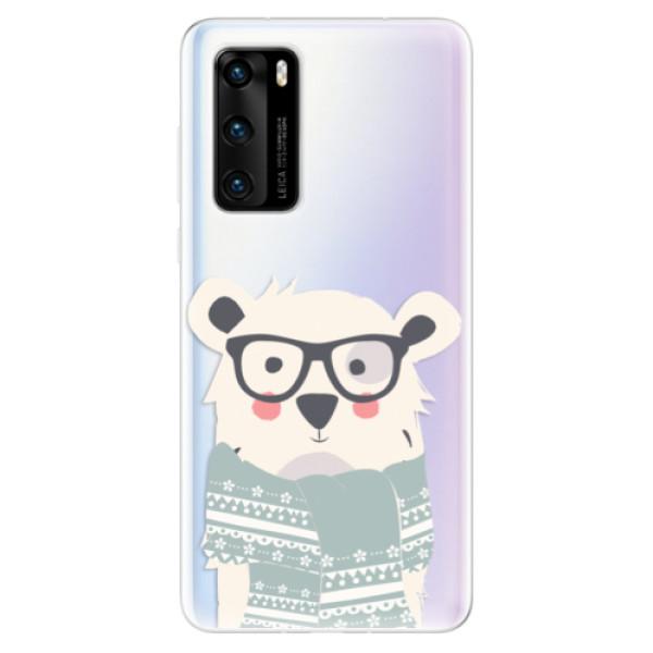 Odolné silikonové pouzdro iSaprio - Bear with Scarf - Huawei P40
