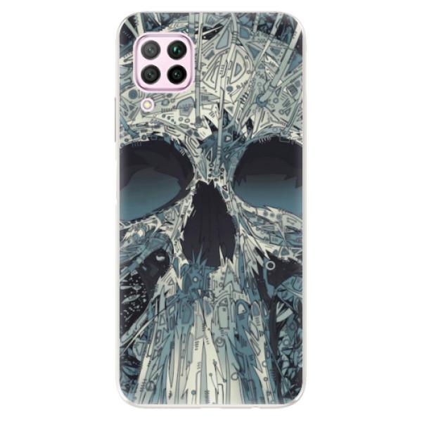 Odolné silikonové pouzdro iSaprio - Abstract Skull - Huawei P40 Lite