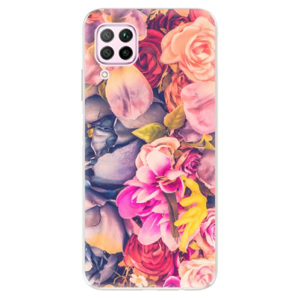Odolné silikonové pouzdro iSaprio - Beauty Flowers - Huawei P40 Lite