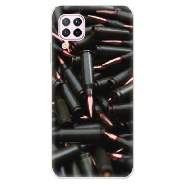 Odolné silikonové pouzdro iSaprio - Black Bullet - Huawei P40 Lite