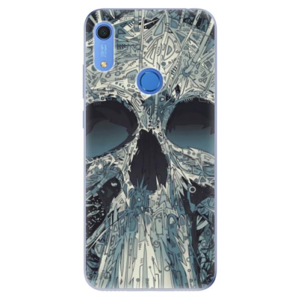 Odolné silikonové pouzdro iSaprio - Abstract Skull - Huawei Y6s