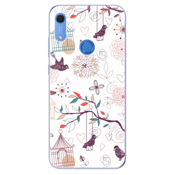 Odolné silikonové pouzdro iSaprio - Birds - Huawei Y6s