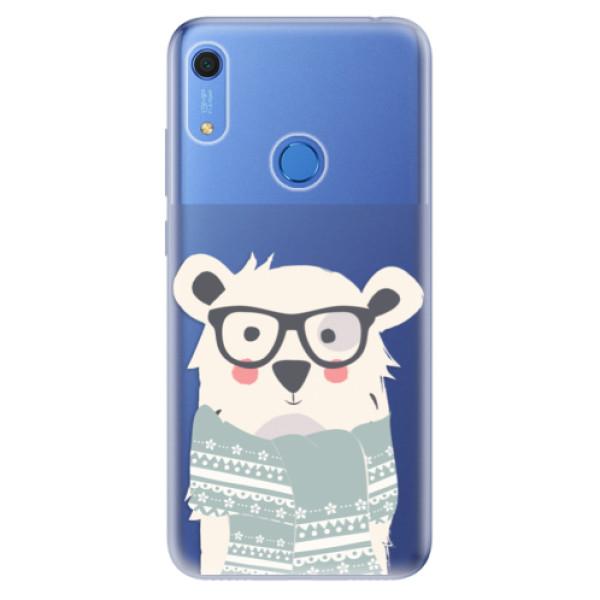 Odolné silikonové pouzdro iSaprio - Bear with Scarf - Huawei Y6s