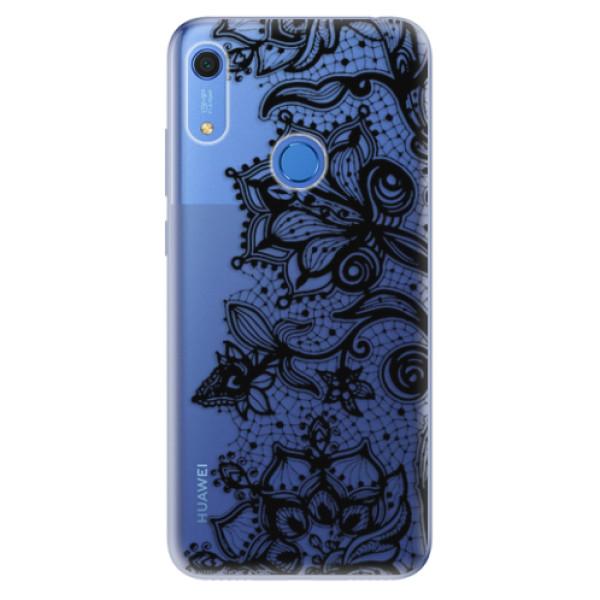 Odolné silikonové pouzdro iSaprio - Black Lace - Huawei Y6s