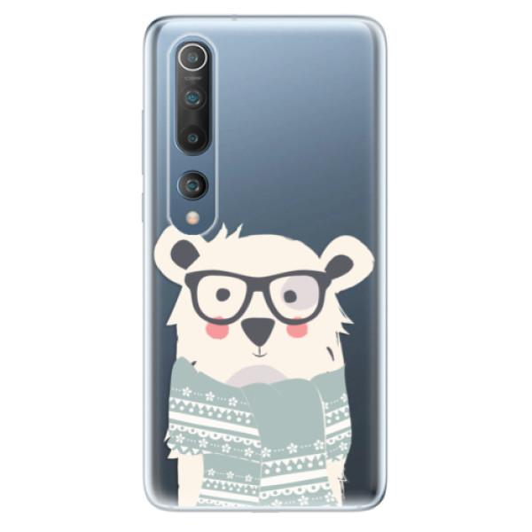 Odolné silikonové pouzdro iSaprio - Bear with Scarf - Xiaomi Mi 10 / Mi 10 Pro