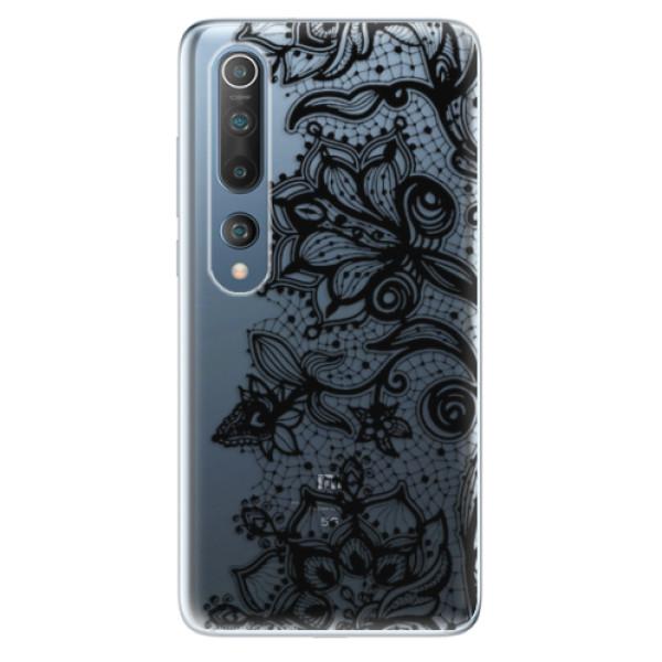 Odolné silikonové pouzdro iSaprio - Black Lace - Xiaomi Mi 10 / Mi 10 Pro