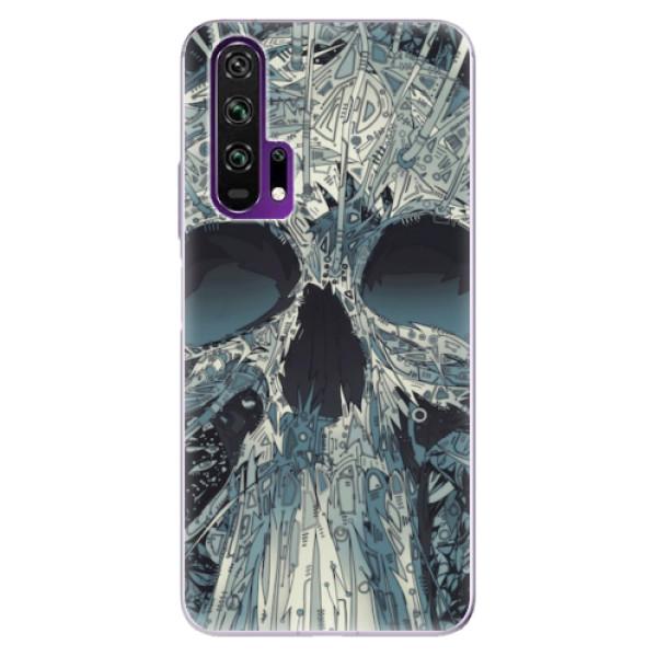 Odolné silikonové pouzdro iSaprio - Abstract Skull - Honor 20 Pro
