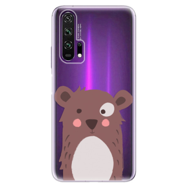 Odolné silikonové pouzdro iSaprio - Brown Bear - Honor 20 Pro