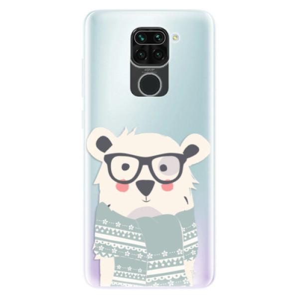 Odolné silikonové pouzdro iSaprio - Bear with Scarf - Xiaomi Redmi Note 9