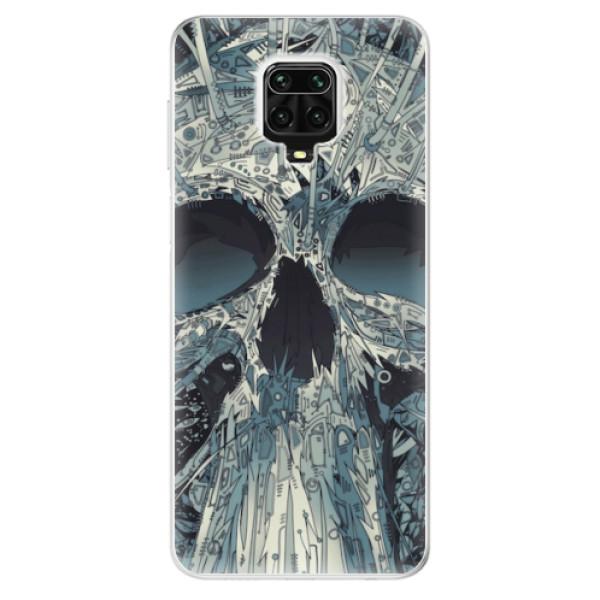 Odolné silikonové pouzdro iSaprio - Abstract Skull - Xiaomi Redmi Note 9 Pro / Note 9S