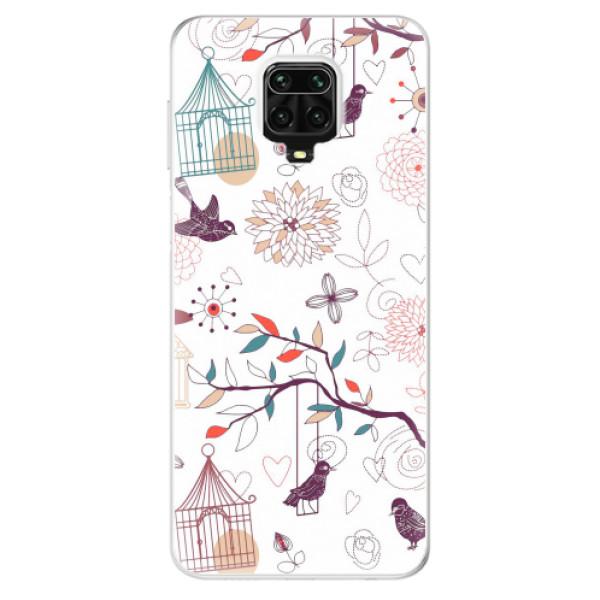 Odolné silikonové pouzdro iSaprio - Birds - Xiaomi Redmi Note 9 Pro / Note 9S
