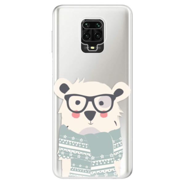 Odolné silikonové pouzdro iSaprio - Bear with Scarf - Xiaomi Redmi Note 9 Pro / Note 9S