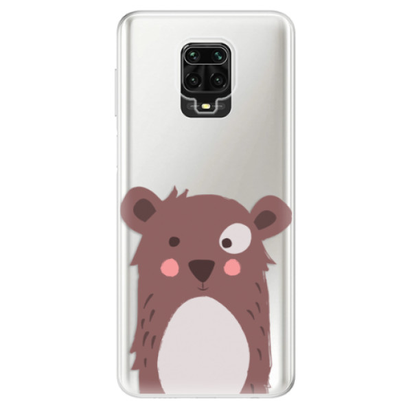 Odolné silikonové pouzdro iSaprio - Brown Bear - Xiaomi Redmi Note 9 Pro / Note 9S
