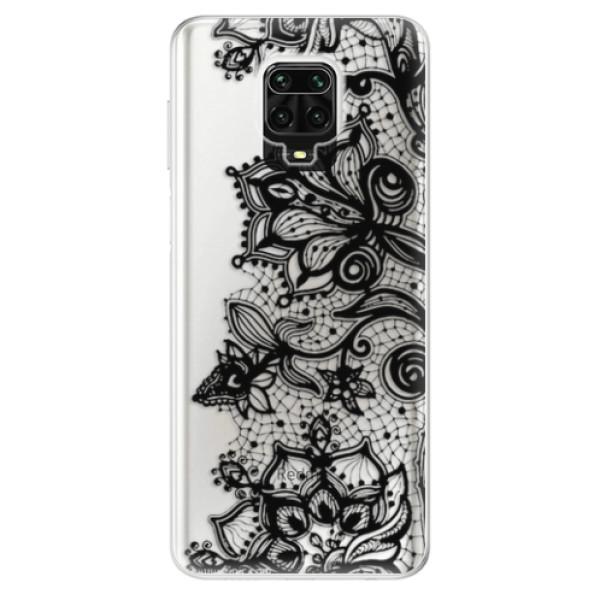 Odolné silikonové pouzdro iSaprio - Black Lace - Xiaomi Redmi Note 9 Pro / Note 9S