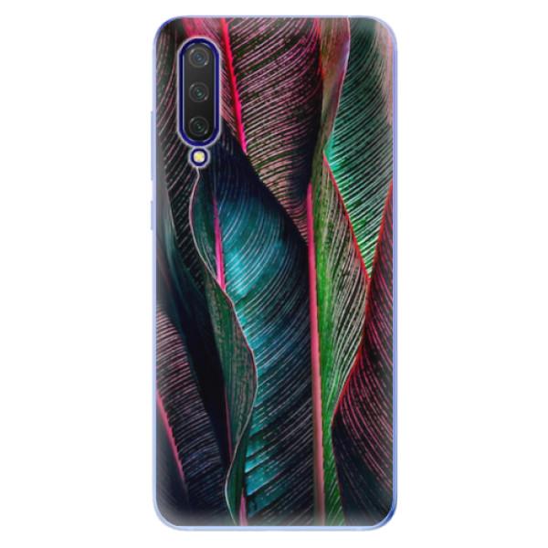 Odolné silikonové pouzdro iSaprio - Black Leaves - Xiaomi Mi 9 Lite