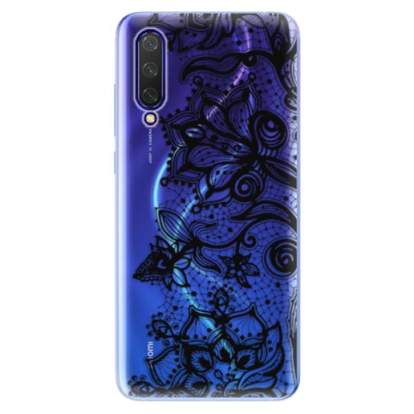 Odolné silikonové pouzdro iSaprio - Black Lace - Xiaomi Mi 9 Lite