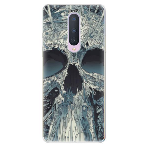 Odolné silikonové pouzdro iSaprio - Abstract Skull - OnePlus 8