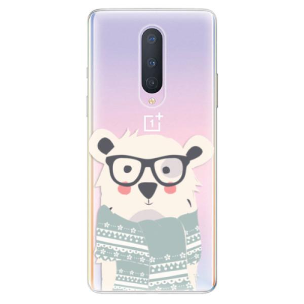 Odolné silikonové pouzdro iSaprio - Bear with Scarf - OnePlus 8