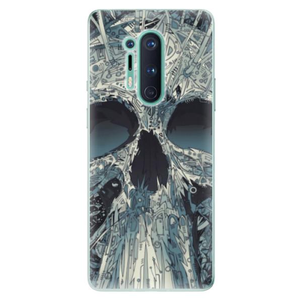 Odolné silikonové pouzdro iSaprio - Abstract Skull - OnePlus 8 Pro