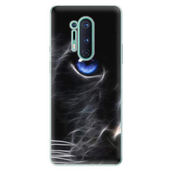 Odolné silikonové pouzdro iSaprio - Black Puma - OnePlus 8 Pro