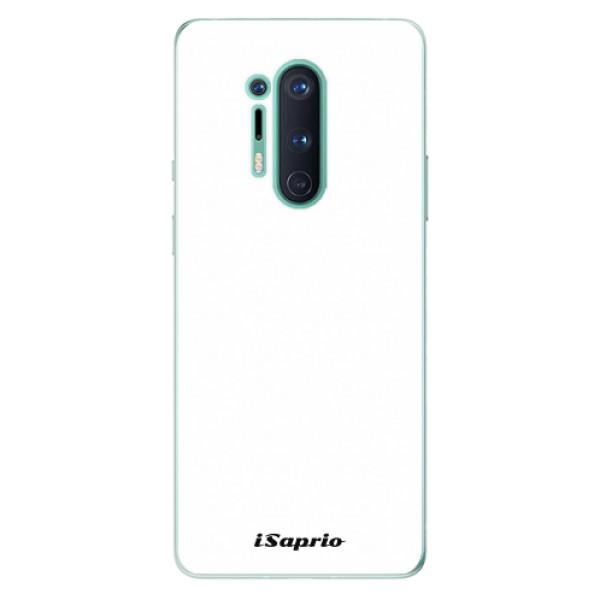 Odolné silikonové pouzdro iSaprio - 4Pure - bílý - OnePlus 8 Pro