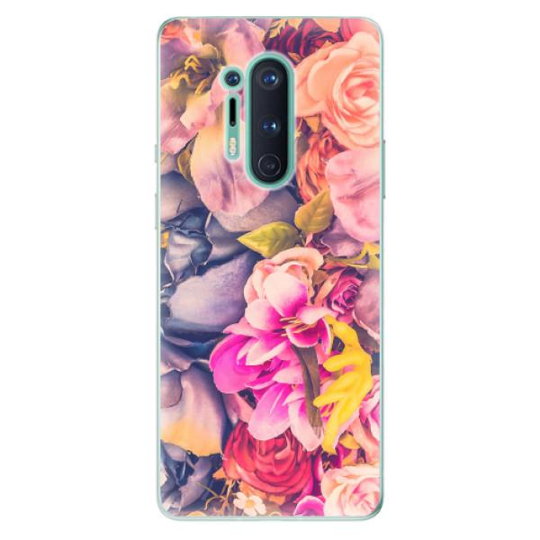 Odolné silikonové pouzdro iSaprio - Beauty Flowers - OnePlus 8 Pro