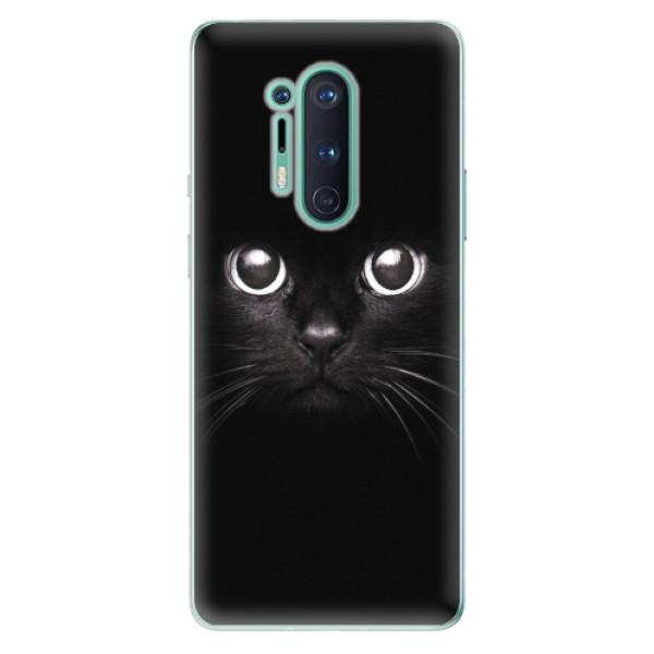 Odolné silikonové pouzdro iSaprio - Black Cat - OnePlus 8 Pro