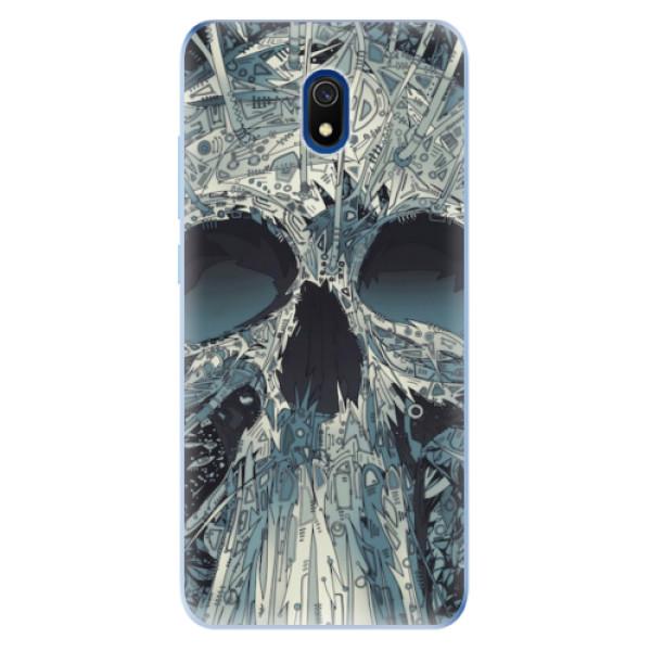 Odolné silikonové pouzdro iSaprio - Abstract Skull - Xiaomi Redmi 8A