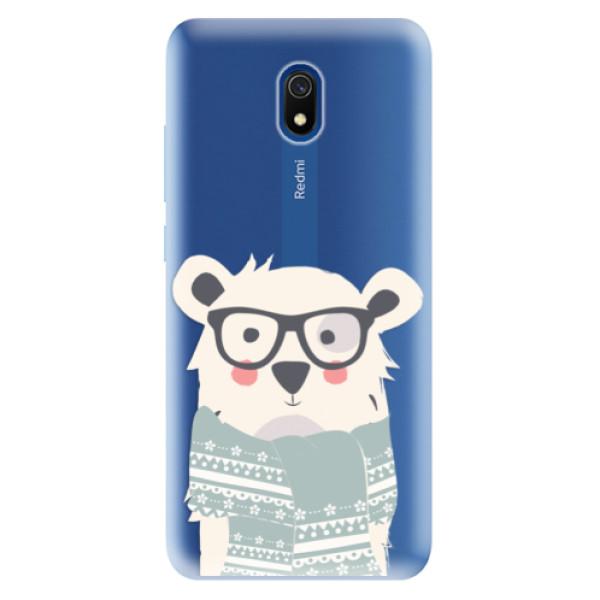 Odolné silikonové pouzdro iSaprio - Bear with Scarf - Xiaomi Redmi 8A